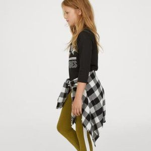 H&M Leggings with Yellow Side Stripes